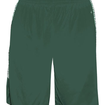 Badger 2195 Blend Panel Youth Short - Forest Forest Blend