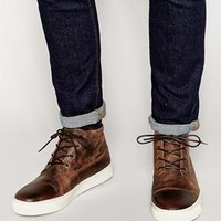 Jack & Jones | Jack & Jones Leather Desert Boot Org at ASOS