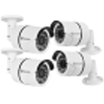 (4-Pack) Swann COCAM-1080FIXWB4-US 1080p Indoor/Outdoor Day/Night Fixed Lens Bullet Camera w/100'Night Vision (White)