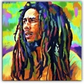 special offer Bob Marley portrait original CANVAS art --Al Pacino 24 inches OIL painting
