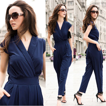 Jumpsuit women's overall sexy fashion waist jumpsuit pants