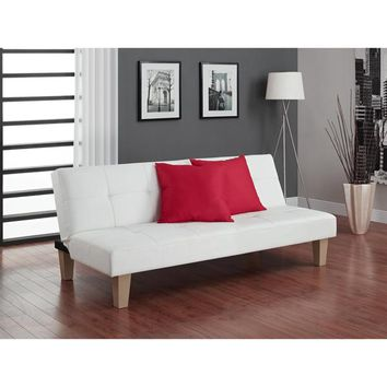 DHP Aria White Futon | Overstock.com Shopping - The Best Deals on Sofas & Loveseats