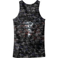 Water Color Skull Tank