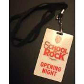School Of Rock Opening Night Pass & Playbill
