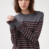 BDG Lucky Day Striped Crew-Neck Sweater
