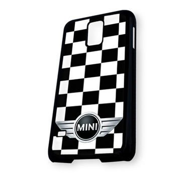 Mini Cooper Checkers Custom Samsung Galaxy S5 Case