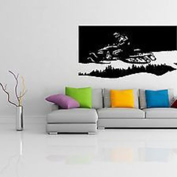 Ski-doo Decal Sticker Snowmobile Wall Art Snow Snowmobile room decor 3741