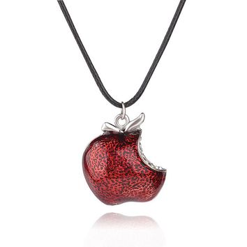 Once Upon a Time Regina Mills Movie Red Apple Crystal Pendants & Necklace