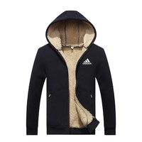 Men Adidas Thickened Coat With Hat