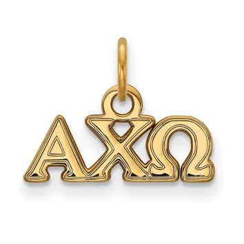 14K Plated Silver Alpha Chi Omega XS Pendant