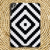 Tribal Diamond Black & White Snap-On Hard Plastic iPad / iPad Mini Case - Tech / Gadget Accessories, Bold, Graphic, Minimal,