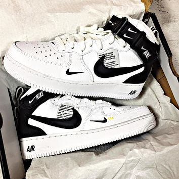 Nike Air Force 1 Deconstruction of high class air force No.1 leisure shoes