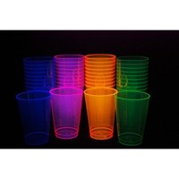 Party Essentials Hard Plastic 12-Ounce Party Cups, Assorted Neon, 40 Count