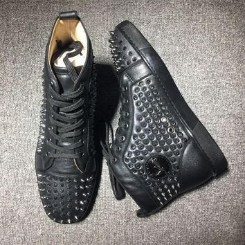 Cl Christian Louboutin Louis Spikes Style #1820 Sneakers Fashion Shoes