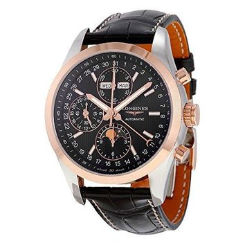 Longines Conquest Black Dial Chronograph Automatic Mens Watch L27985523
