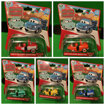 Disney Cars Carsland Exclusive Set of Luigi Guido Ride Rollickin' Roadsters Cars (set of 5)