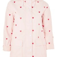 Love Heart Print Raincoat Mac - Jackets & Coats - Clothing