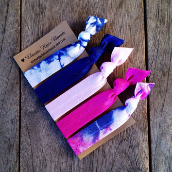 The Devon Hair Tie-Ponytail Holder Collection by Elastic Hair Bandz on Etsy