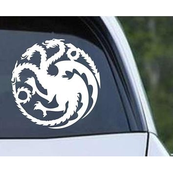 Game of Thrones House Targaryen Dragon Die Cut Vinyl Decal Sticker
