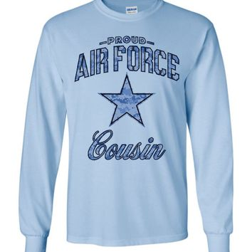 Proud Air Force Cousin Long-Sleeve T-Shirt (Camo)