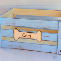 Personalized Dog Toy Box Storage Crate Child or Dog YOUR CHOICE of COLOR