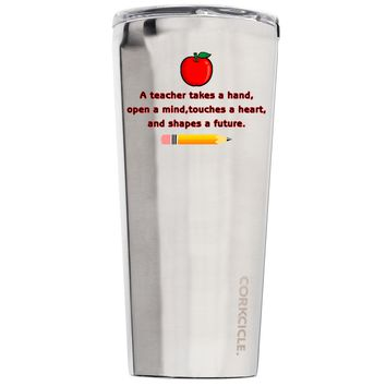 Corkcicle A Teacher Takes a Hand with Apple 24 oz Tumbler Cup