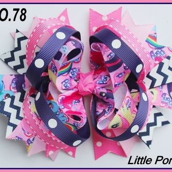 CHARACTER HAIR BOWS - MY LITTLE PONY #78