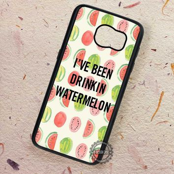 Drinkin Watermelon Pattern Beyonce - Samsung Galaxy S7 S6 S5 Note 7 Cases & Covers