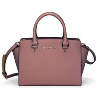 Michael Kors Selma Leather Satchel - Dusty Rose - Handbags & Accessories - Fashion & Beauty - Jomashop
