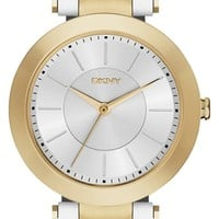 Women's DKNY 'Stanhope' Leather Strap Watch, 36mm