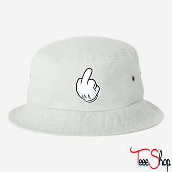 Mickey Hands Middle Finger bucket hat