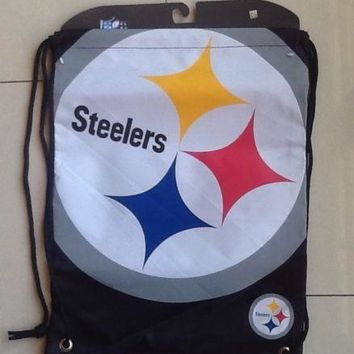 NFL Pittsburgh Steelers Back Sack Draw-String Sling Bag Backpack Back Pack NEW