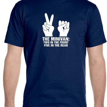 Funny Offensive Shirt, Gag Gifts, College Humor Minivan Shocker Men's T-Shirt