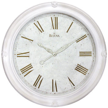 Bulova Hazelton Gallery Wall Clock - Antique Spackled Dial - Molded Case