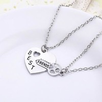 Free Shipping Best Friend Set Necklace--KLXL15051