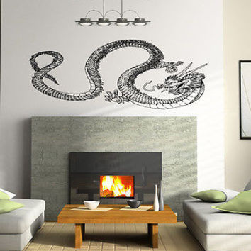 DRAGON ANIMAL CUTE JAPANESE STYLE WALL VINYL STICKER  DECALS ART MURAL D1878