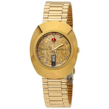 Rado Original L  Automatic Yellow Gold Dial Mens Watch R12413643