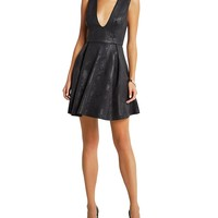 BCBGenerationFoiled Scuba Knit Skater Dress