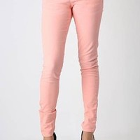 five pocket skinny leg jeans $50.10 in CORAL - Denim | GoJane.com