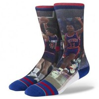 Stance Socks with NBA Legends Lainbeer-Isiah of the Detroit Pistons M320D13THO
