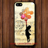 Iphone 5 Case   Banksy Balloon Girl Music Sheet on by CaseCastle