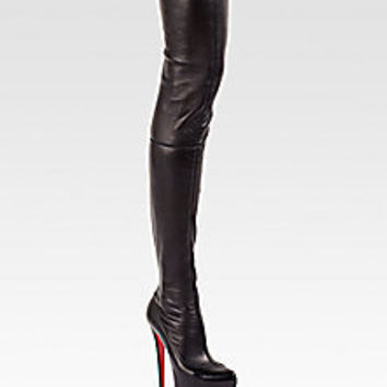 Christian Louboutin - Monicarina Thigh-High Leather Boots - Saks Fifth Avenue Mobile