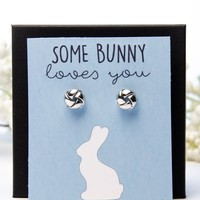Some Bunny Loves You Silver Earring Gift