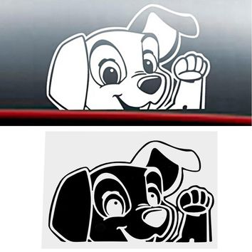 Cute Puppy Dog  Car Stickers and Decals Anti Heat and Sunlight Car Window Decor Car-styling Auto Motorcycle Sticker