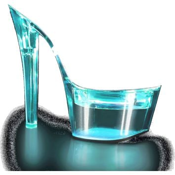 FLASHDANCE Illuminated Slide 7 Inch Heels-Stripper Shoes
