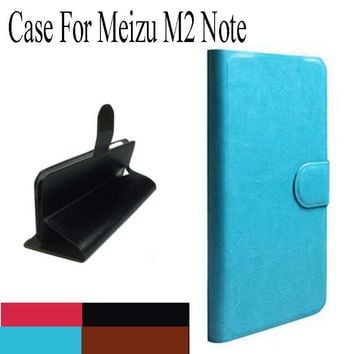 "cunzhi Hot ! Original PU Leather Flip Cover Case For Meizu M2 Note / Meilan Note 2  5.5"" Cell Phones Holster +Touch Pen Gift"