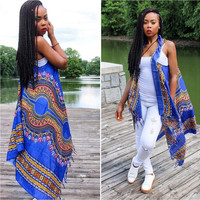 African Vintage Dashiki Long Jacket