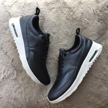 Nike Air Max Thea Black Premium Leather SneakersNWT