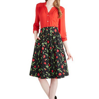 Bea & Dot Long A-line Flair for the Fantastic Skirt in Poppy