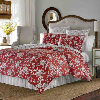Stone Cottage Ceylon 3-pc. Reversible Duvet Cover Set (Red)